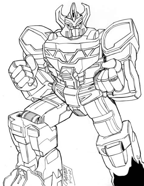 megazord coloring sheets coloring pages