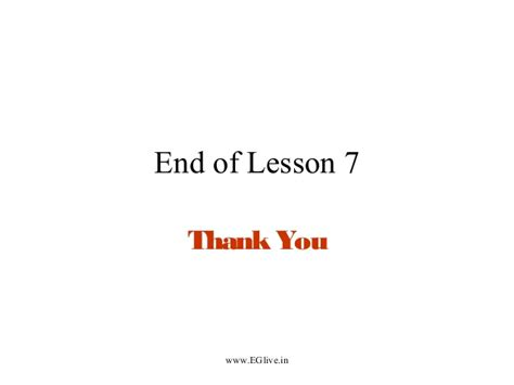 lesson  sections