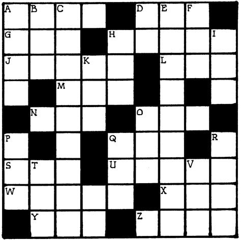 blank puzzle template search results for crossword puzzle blank template