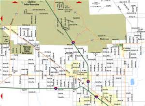 Map Of Phoenix Az by Street Map East Valley Arizona Pictures To Pin On