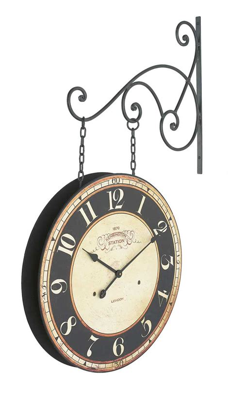 london station two sided wall clock 150 to 299 clocks