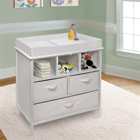 baby doll changing table wood white color modern baby changing table with doll towel and