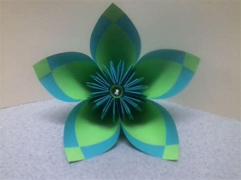 Easy Origami Kusudama Flower - teal light green kusudama flower by theorigamiarchitect on