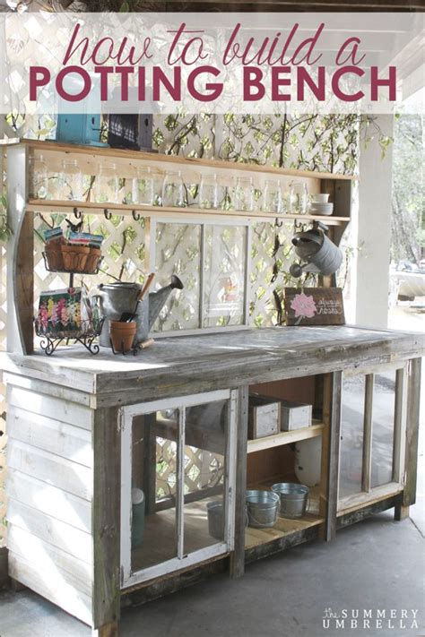 build your own potting bench 25 best ideas about build a bench on pinterest diy wood