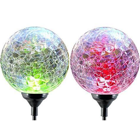 Solar Globe Lights, OxyLED Crystal Glass LED Light/Solar