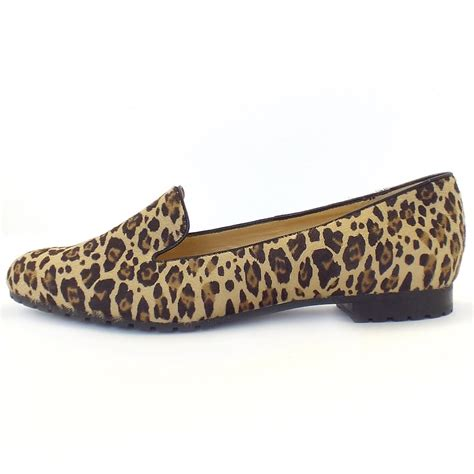 leopard womens loafers kaiser viga smart casual loafers in leopard print
