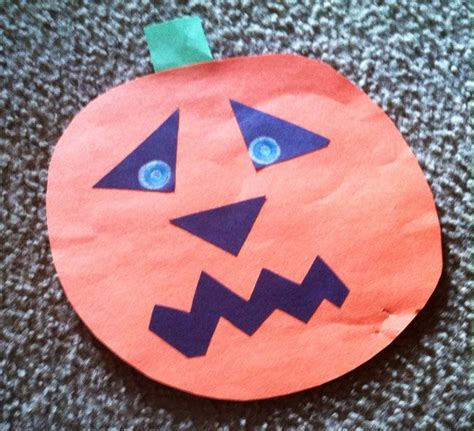 Construction Paper Pumpkin Crafts - pumpkin construction paper craft construction paper