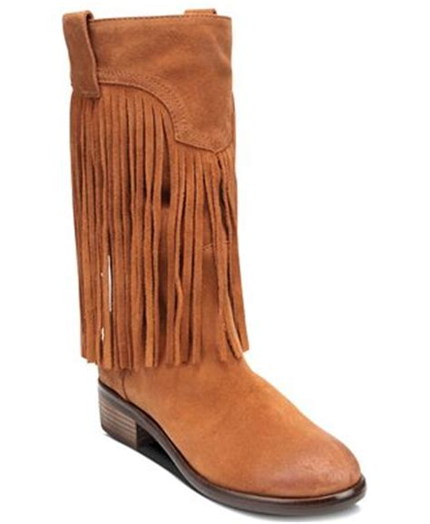macy s lucky brand boots lucky brand caleb fringe boots shoes macy s