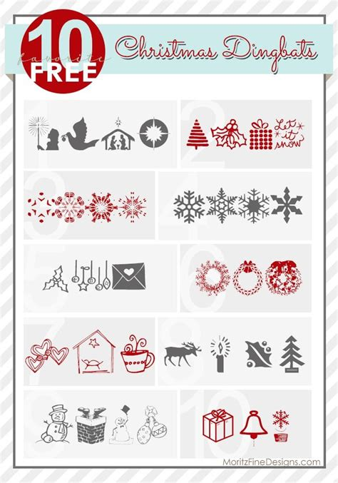 printable christmas dingbats 17 best images about christmas and holiday fonts on