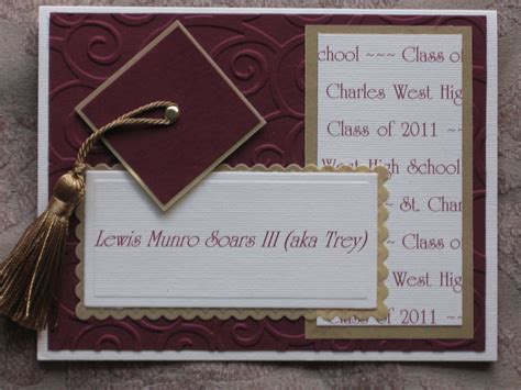Handmade Graduation Announcements - graduation announcement birthday card