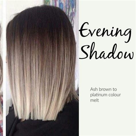 how to do ash ombre highlight on short hair ash brown to platinum colour melt hair pinterest ash