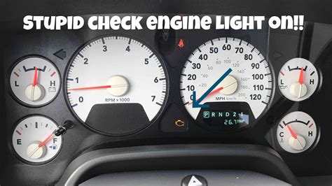 dodge charger check engine light