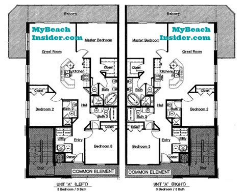 3 bedroom unit floor plans celadon beach resort condo floor plans panama city beach