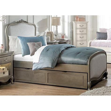 upholstered trundle bed ne kids kensington katherine twin upholstered bed with