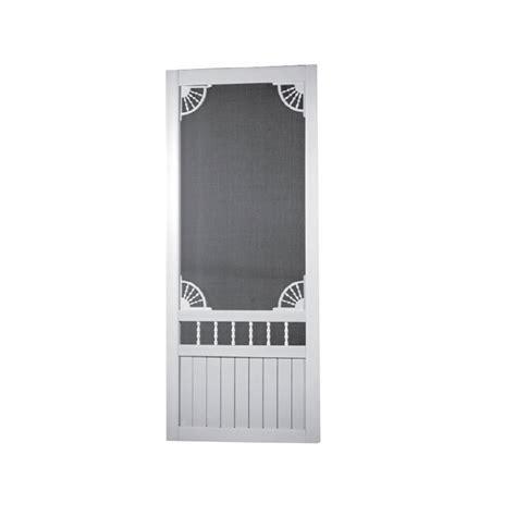 shop screen tight white vinyl screen door common 80 in x