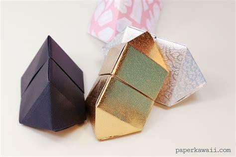 origami gem origami bipyramid gem box paper kawaii