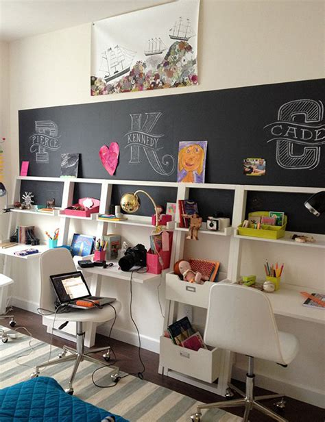 Teenage Bedroom Decorating Ideas by Kids Study Room Chalkboards