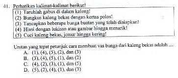 soal latihan ujian sekolah bahasa indonesia sdmi