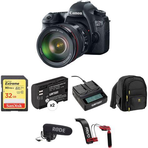 Canon Eos 6d Dslr Kit 24 105mm F35 56 Is Stm Built In Wifi And Gps canon eos 6d dslr with ef 24 105mm f 4l is usm lens b h