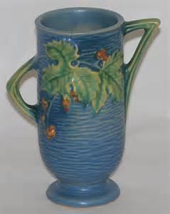 roseville pottery bushberry blue vase for sale antiques