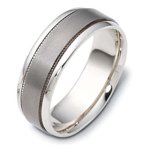 111621tg 14 k gold titanium comfort fit 7 5mm wide