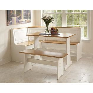 Pine Kitchen Nook by Linon Ardmore Nook White With Pine Accents