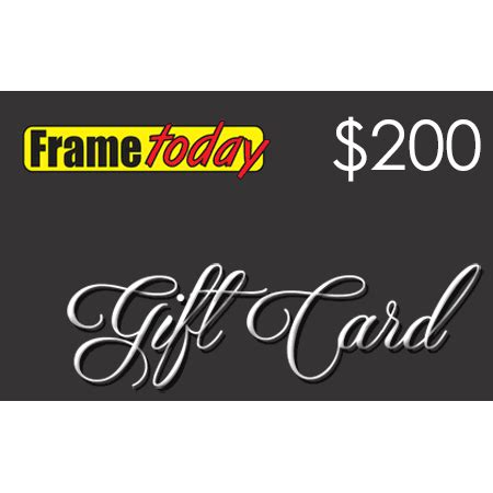 200 gift card voucher frame today - Gift Card Frame