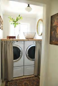 Laundry Room Curtain Decor 25 Small Laundry Room Ideas Home Stories A To Z