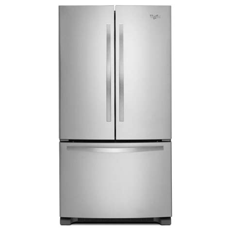 energy door refrigerator shop whirlpool 25 2 cu ft door refrigerator with