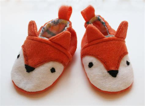 animals slippers fox baby shoes animal booties felt slippers forest