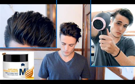styling gel undercut messy pompadour mens hair tutorial hairstyle youtube