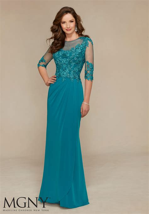 jersey  venice lace appliques style  morilee