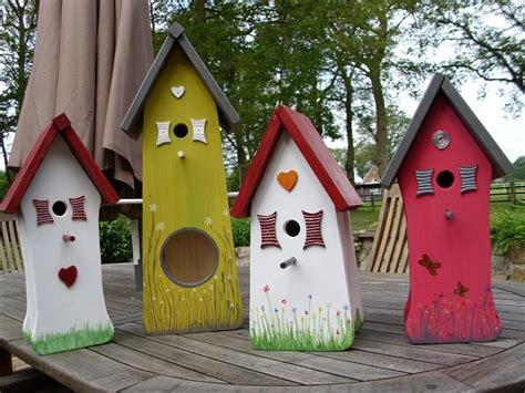 Handmade Birdhouses And Feeders - painted and handmade bird feeder houses buy bird