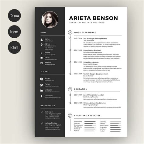 creative cv examples unique sample resume graphic design student