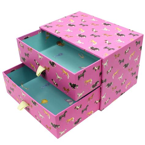 Drawer Storage Boxes by Pink Horses Two Drawer Storage Box By Milly Green