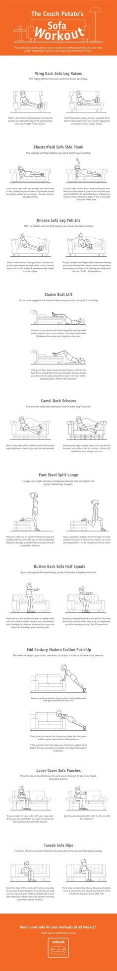 couch potato exercises 1000 images about workout on pinterest abs work outs