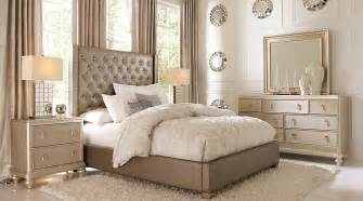 sofia vergara silver 7 pc king upholstered bedroom