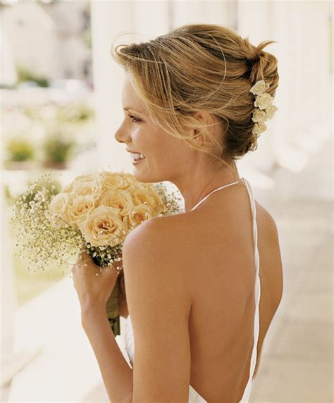 bridal hairstyles for relaxed hair flirty feminine bridal hair the relaxed updo photo 8