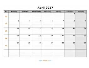 april 2017 calendar pdf weekly calendar template
