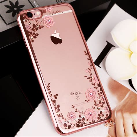For Iphone 6 6s Plus Luxury Flower Bling Fashion So T0310 for iphone x 8 5s se 6 6s plus 7 plus luxury flower flora bling rhinestone clear