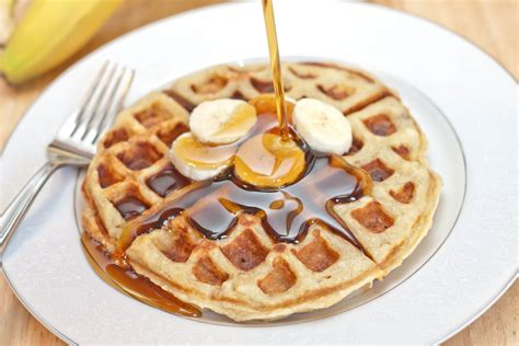 homemade banana waffles served from scratch