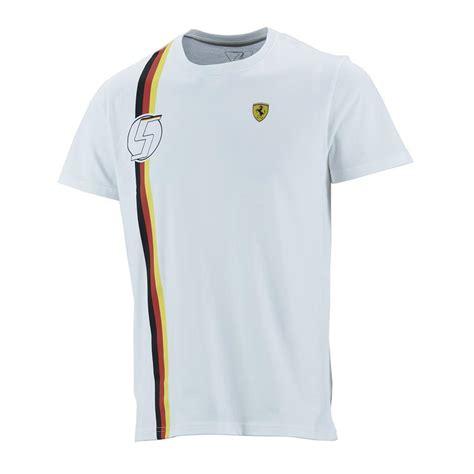 Ferrari T Shirt 2015 sebastian vettel german flag mens t shirt 2015 f1