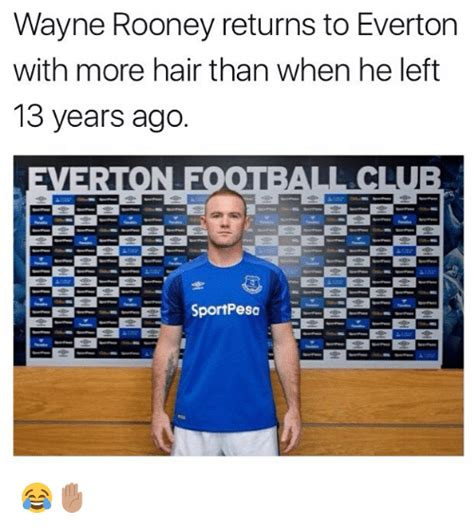 wayne rooney returns to everton with more hair than when