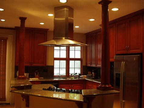 kitchen island with vent over stove top for the home