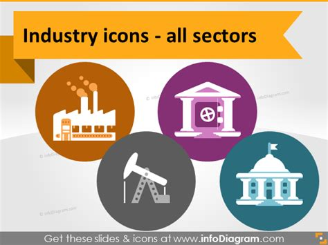 production symbols infodiagram on quot all industries icons new set of