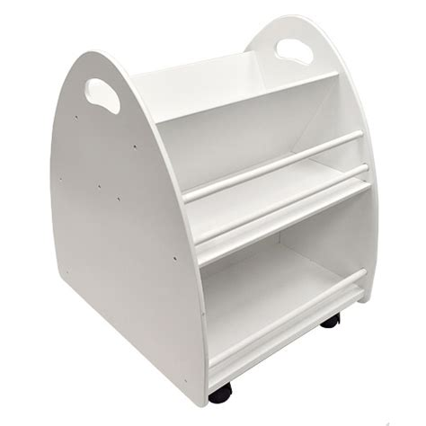 Small Bookcase On Wheels Wheeled Children S Bookcase