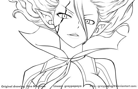 fairy tail mavis full body coloring pages coloring pages