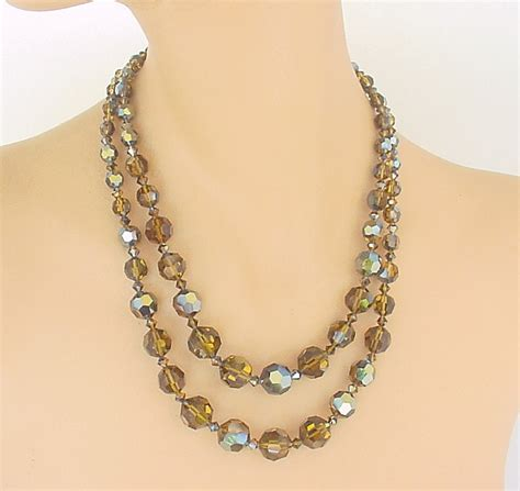costume jewelry vintage costume jewelry ab topaz necklace