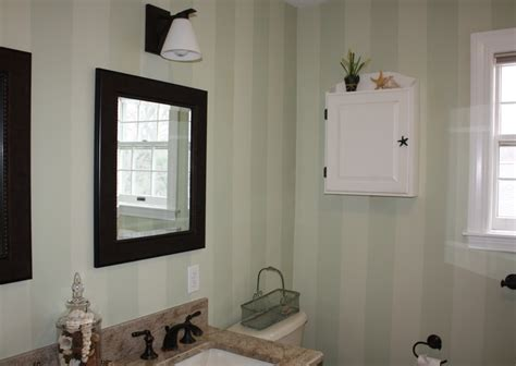 painting stripes in bathroom painted striped bathroom classic fauxs finishes