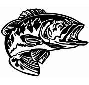 Bass Decal MD5 Vinyl Fishing Boat Sticker  Wildlife